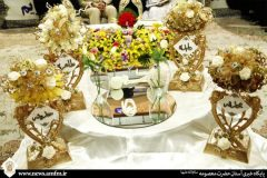 برگزاری بیش از ۹۰۰ مراسم عقد طی ۶ ماه در حرم مطهر بانوی کرامت