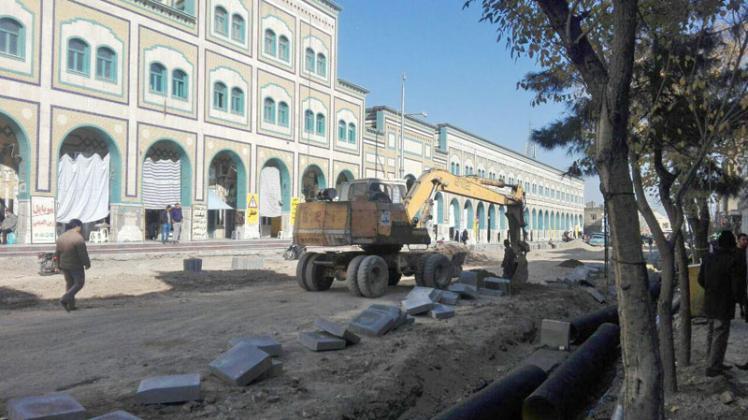 پیشرفت ۵۰درصدی در طرح پیاده راه سازی خیابان ارم قم