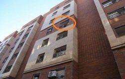 نجات جان کودک درحال سقوط ازطبقه پنجم توسط سازمان آتشنشانی قم