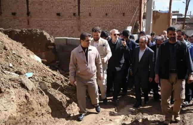 بازديدرئيس مجلس شوراي اسلامي واستاندار قم ازحوزه بالادست قمرود