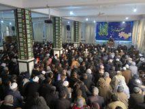 برگزاری مراسم جشن فاطمی درمسجدجامع مرکز فقهی ائمه اطهارکابل