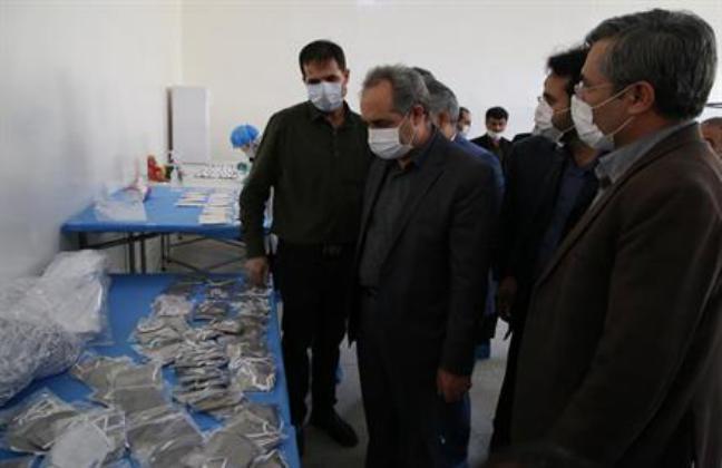 افتتاح واحد تولیدی ماسک N۹۵ توسط استاندار قم