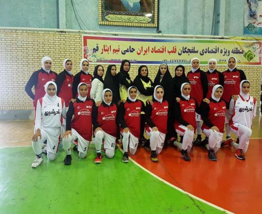 شکست تیم های بال شیرازوحسینی تهران درمقابل نادرشیمی قم