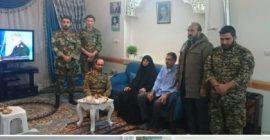 دیدار بسیجیان حوزه شهید ابراهیمی با مادر شهید مفقود الاثر صلاح تمیمی