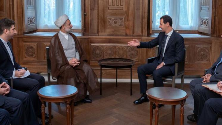 الأسدفی لقائه ذوالنوری:لا يمكن إنهاء الحرب في سوريا عبر اللجنة الدستورية