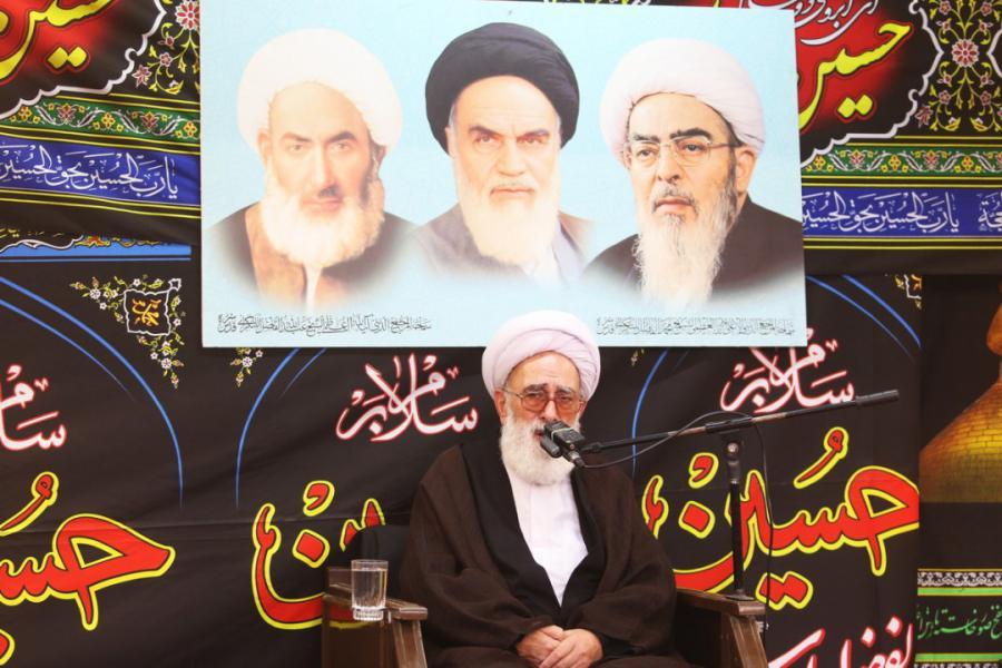 برپایی مراسم عزاداری اباعبدالله الحسین(ع)در دفتر ایت الله فاضل لنکرانی