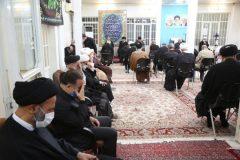 برگزاری مراسم سوگواری شهادت امام جواد در دفتر ایت الله فاضل لنکرانی