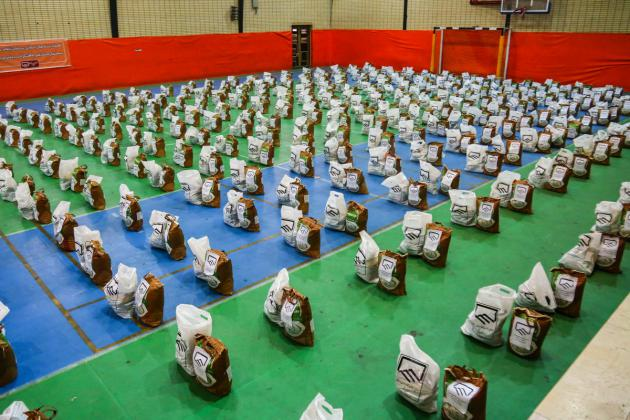 توزیع بسته های حمایتی مهندسان در بین اقشار آسیب دیده از کرونا